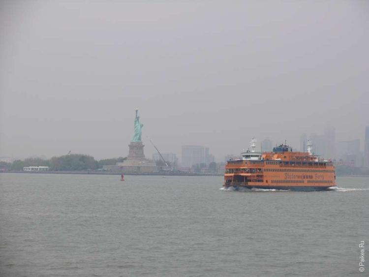 Бюджетное путешествие в США - бесплатный паром к статуе свободы