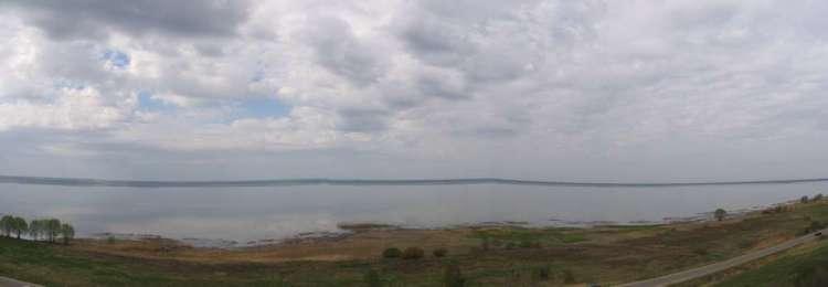 Панорамный вид Плещеево озеро
