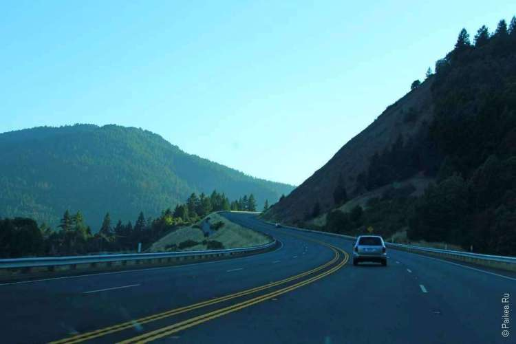 дорога в штате калифорния на север