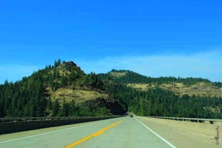 Лесные холмы и дорога