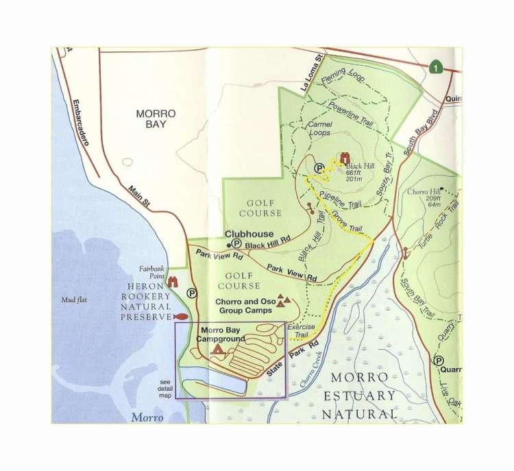 Карта и трейл Морро Рок