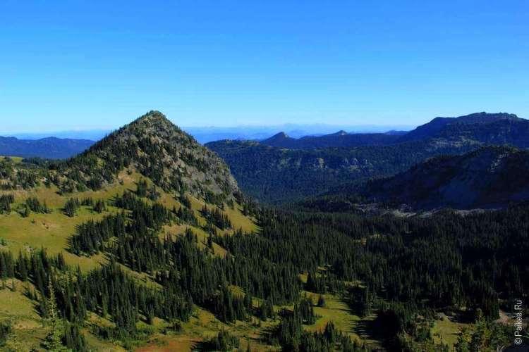 горный пейзаж в парке маунт рейнир