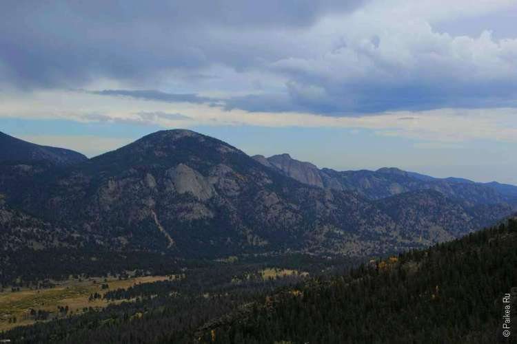 Парк скалистые горы в сша осенью