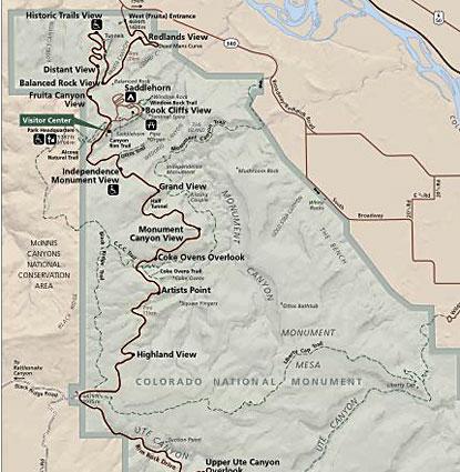 Карта парка Колорадо
