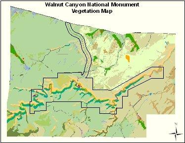 Карта нацпарка Уолнат Каньон (кликабельна!)