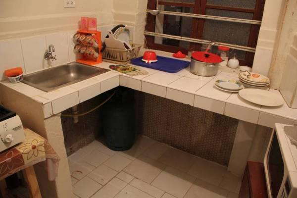 Кухня в хостеле в Кито, Перу