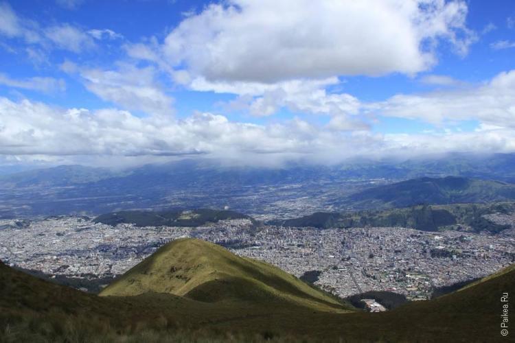 Кито с высоты Телеферико