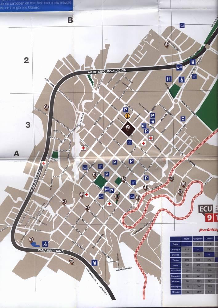 Карта Отавало