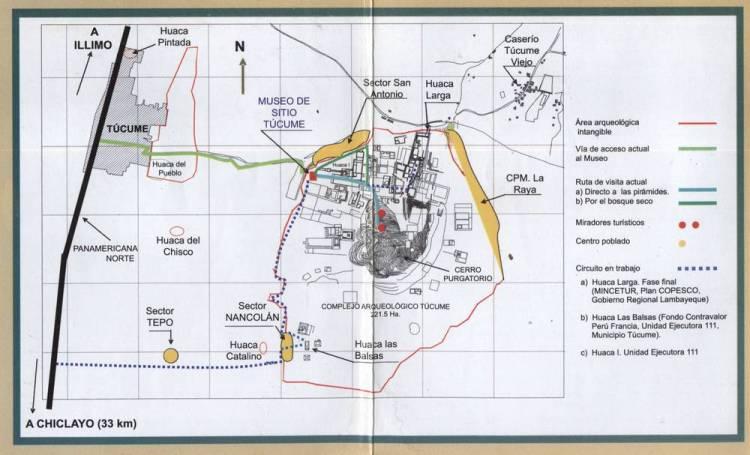 Карта Тукуме и Археологического комплекса