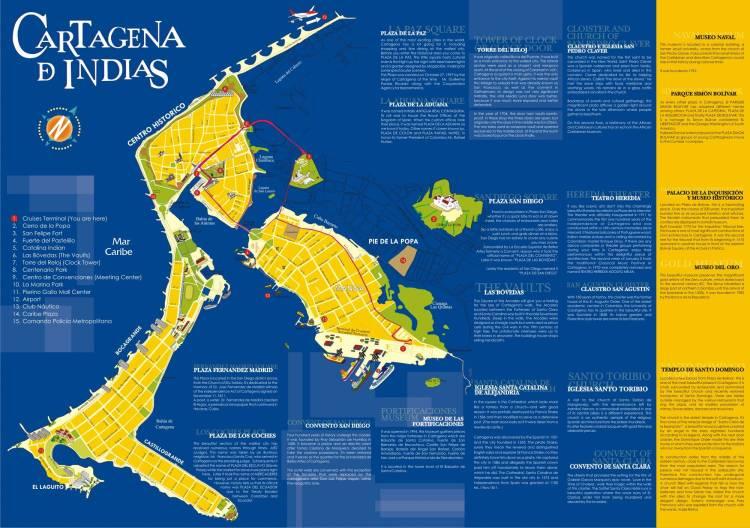 Карта Картахены (продолжение)