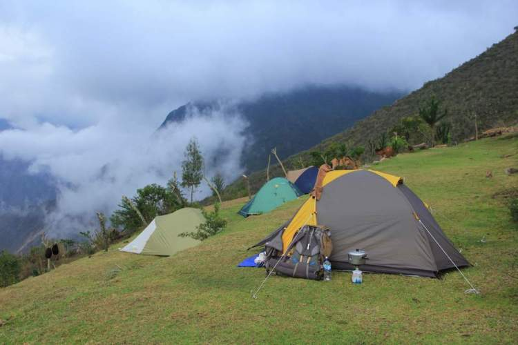 Наша палатка в Андах