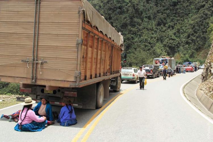 А это реальность дороги в Мачу-Пикчу. В горах бывают обвалы