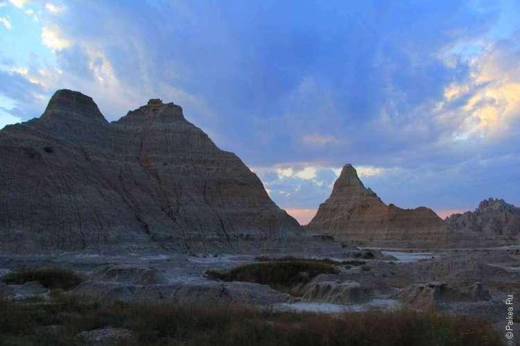 Закат в штате Южная Дакота
