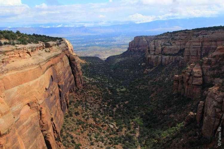 Живописная дорога Rim Rock Drive, Национальный памятник Колорадо, США 05