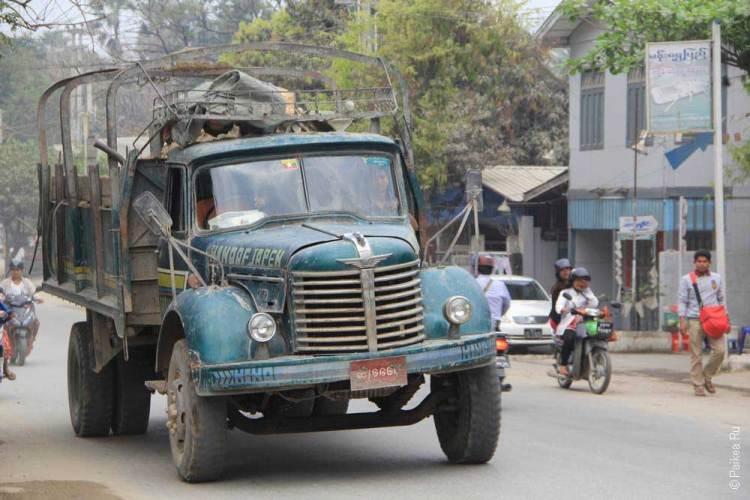 грузовик в мьянме