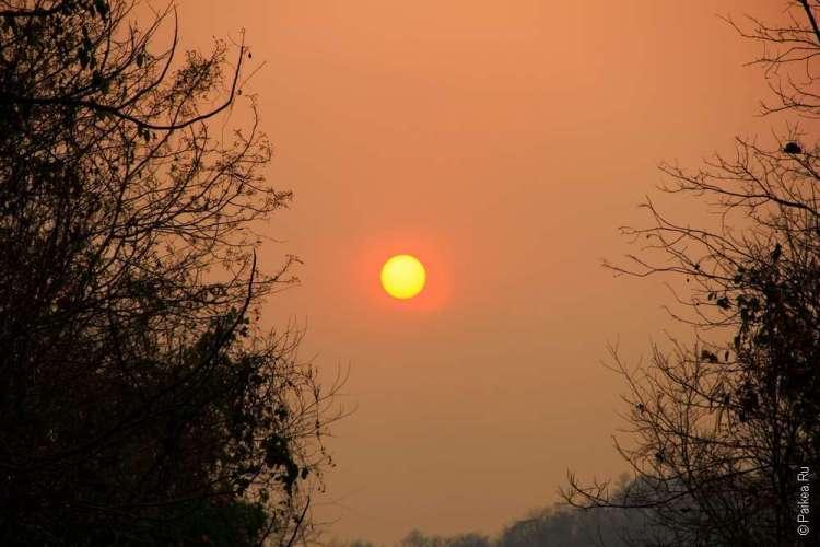 Закат Северный Таиланд