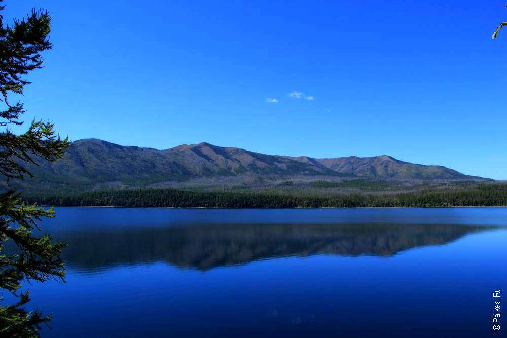 Ледниковое озеро в штате Монтана США
