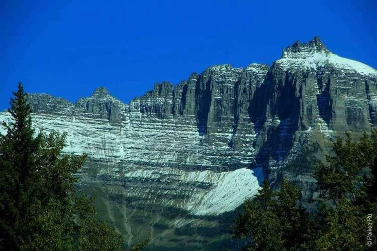 Скалистые горы в парке Глейшер