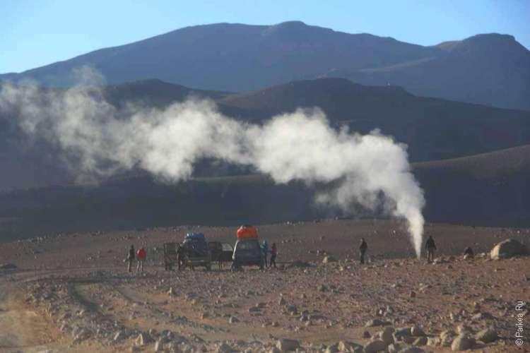 Фумарола - выход вулканического газа
