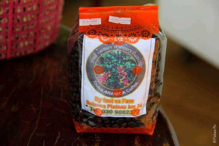 В таких упаковках можно купить чай в Лаосе