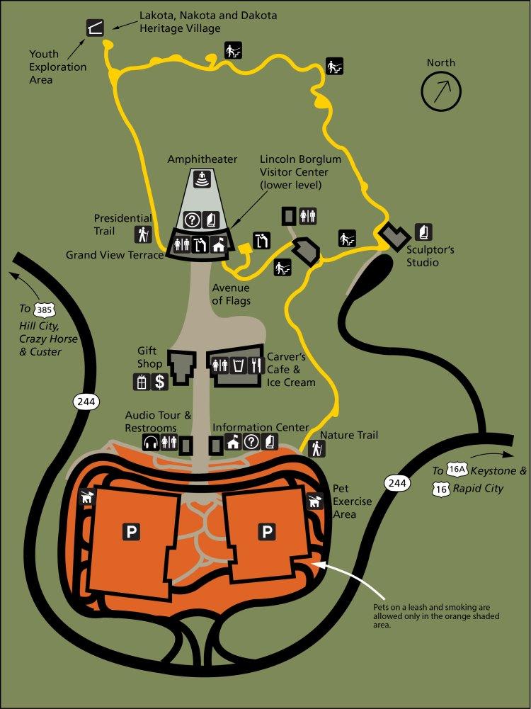 гора рашмор на карте