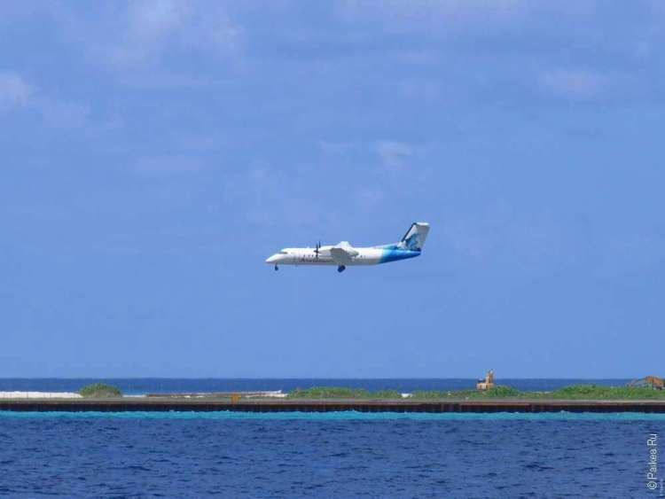 Посадка на Мальдивах