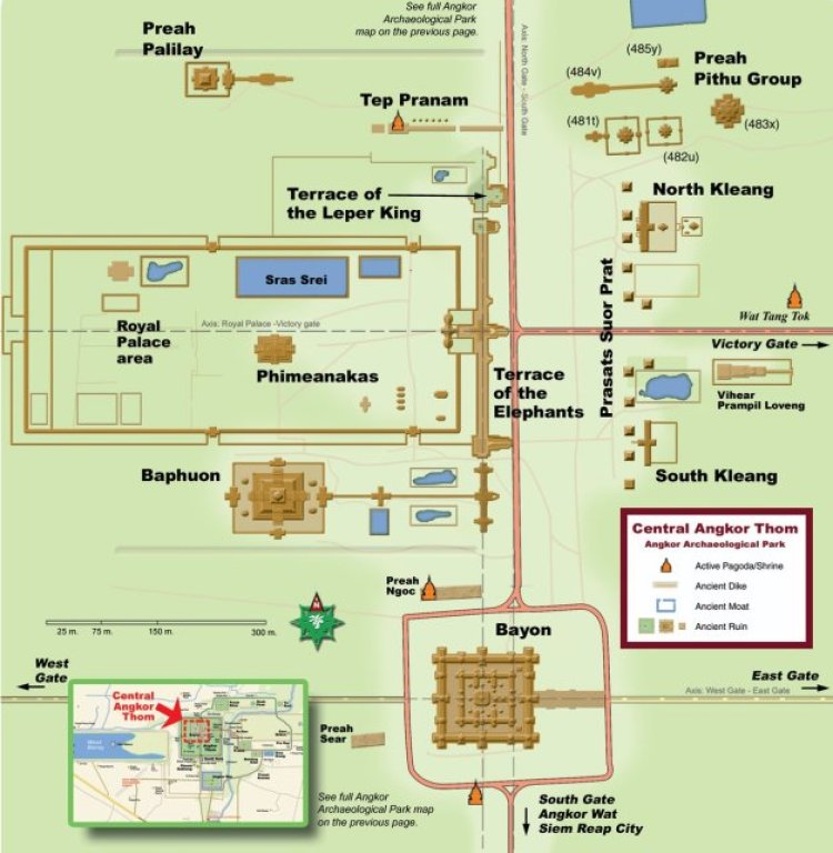 Схема Ангкор Тхом (Angkor Thom Map)