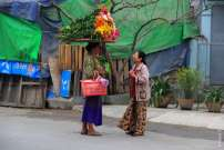 Торговка в Мандалае