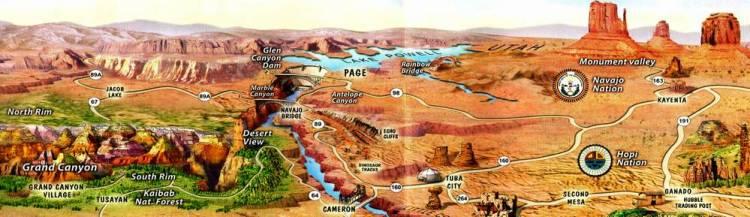 Как добраться до моста Навахо бридж