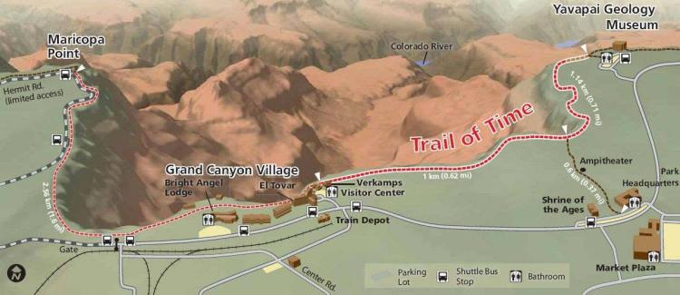 Trail of Time в парке Гранд-Каньон