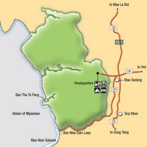 Карта национального парка Салуин