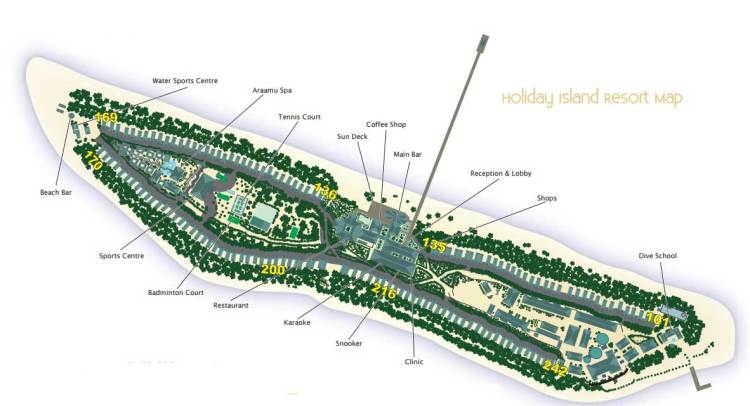 Holiday Island Resort & Spa Map