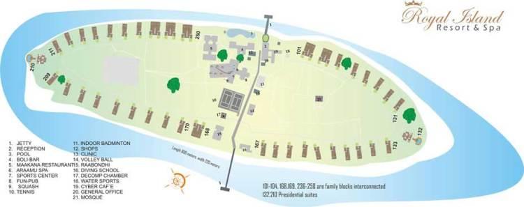Royal Island Resort & Spa Map