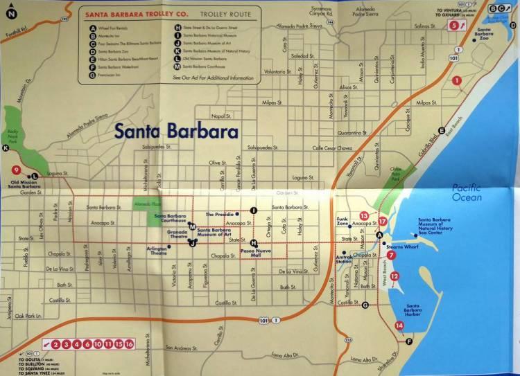 Санта-Барбара схема для туристов