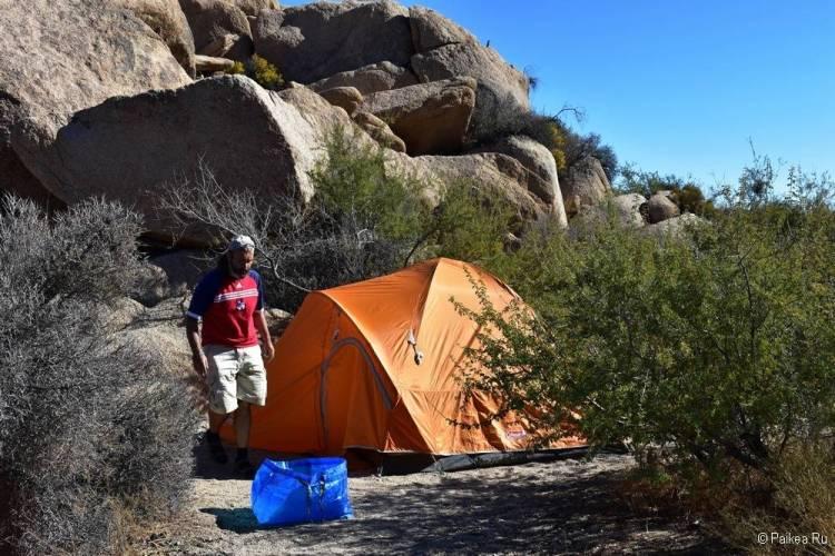 Кемпинг Jumbo Rocks, Национальный парк Джошуа Три, Калифорния, США