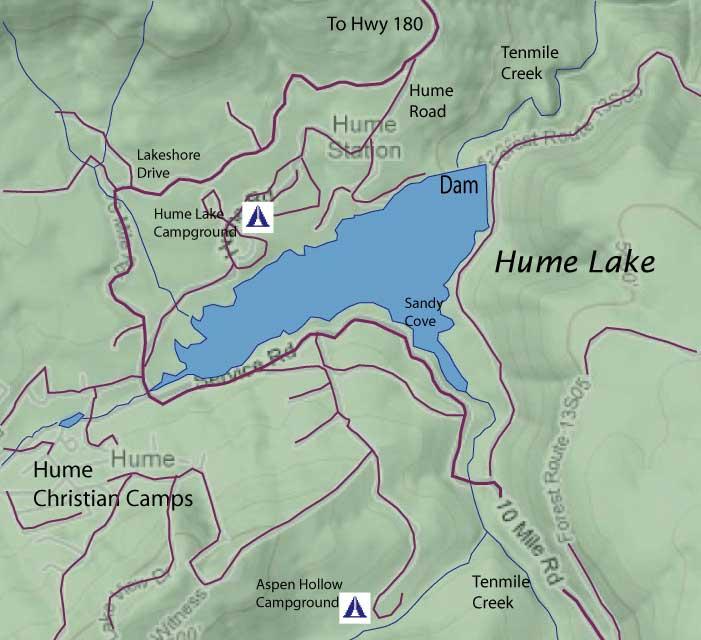 озеро хьюм