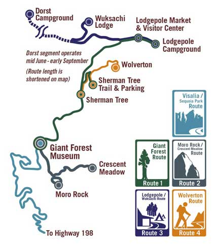 маршруты шаттлов секвойя