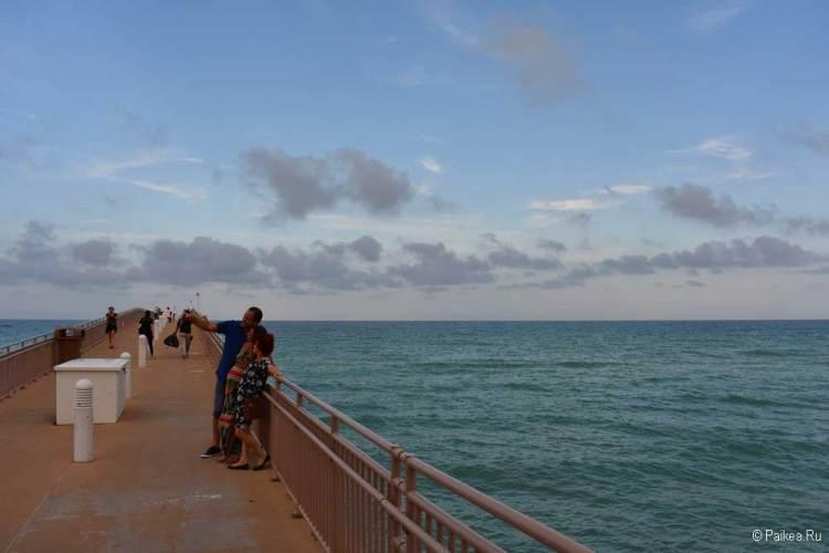 Пляжи Майами пирс