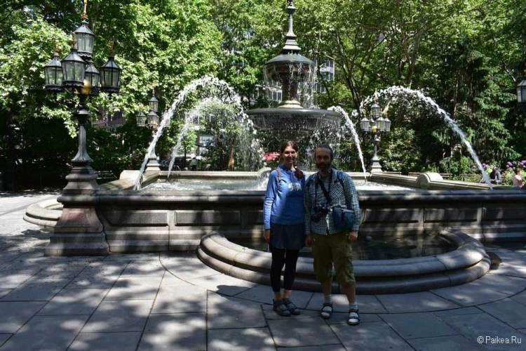 Достопримечательности Нью-Йорка что посмотреть фонтан