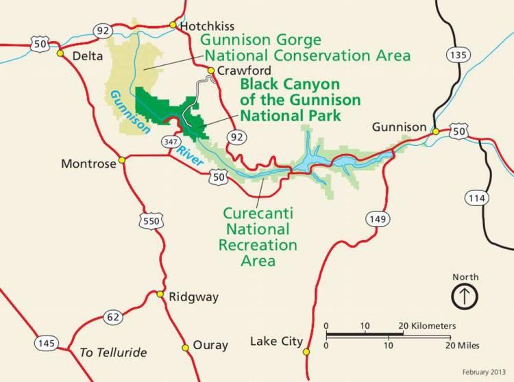 Черный каньон Ганнисона схема дорог