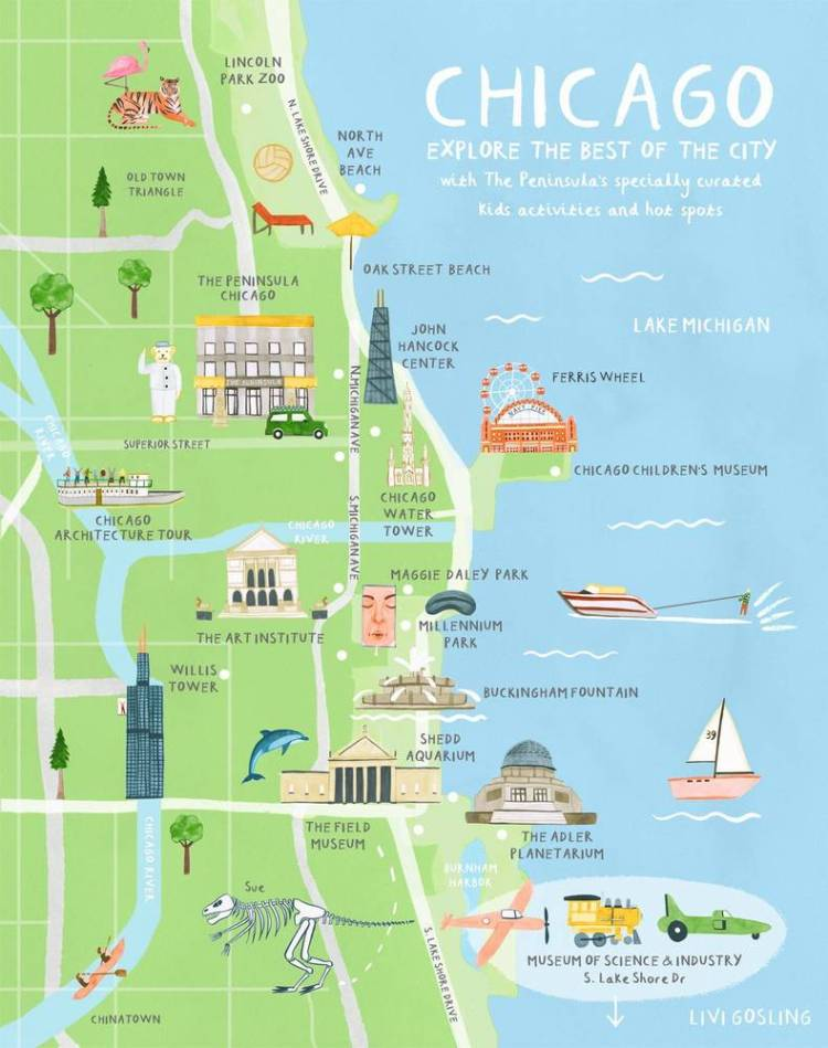 Туристическая карта Чикаго