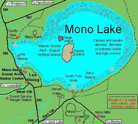 Озеро Моно и его окрестности