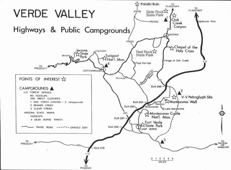 Схема Долины реки Верде