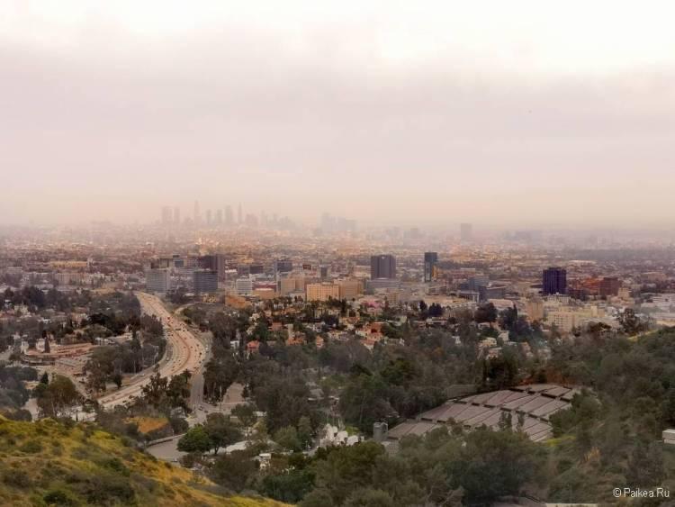 Поездка в Лос-Анджелес самостоятельно панорама города