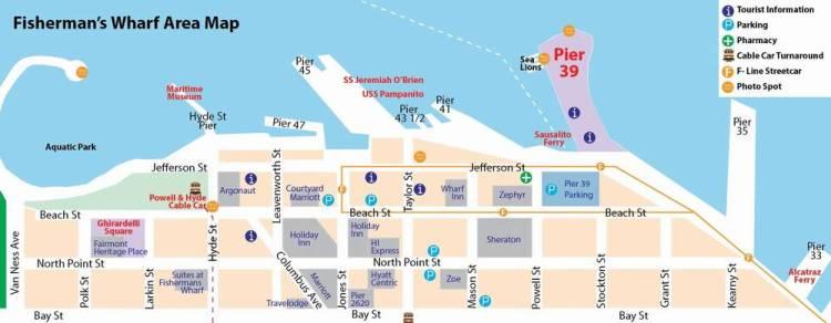рыбацкая пристань сан франциско туристическая карта