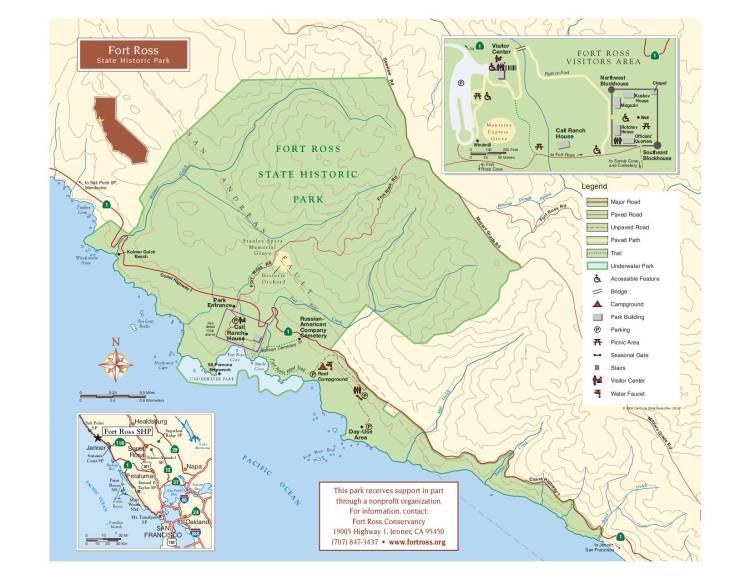 карта парка форт росс
