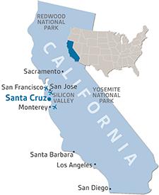 Санта-Круз Калифорния на карте
