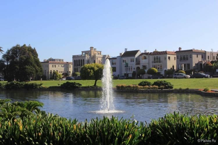 Дворец изящных искусств в Сан-Франциско лагуна