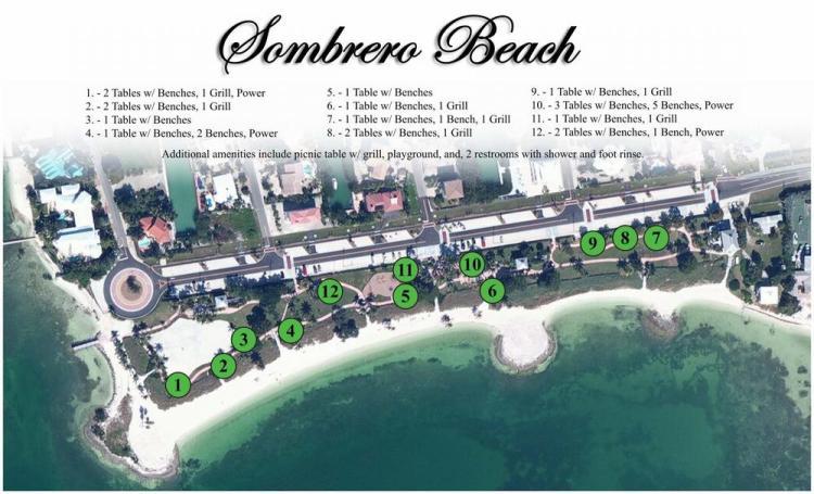 пляж сомбреро бич схема