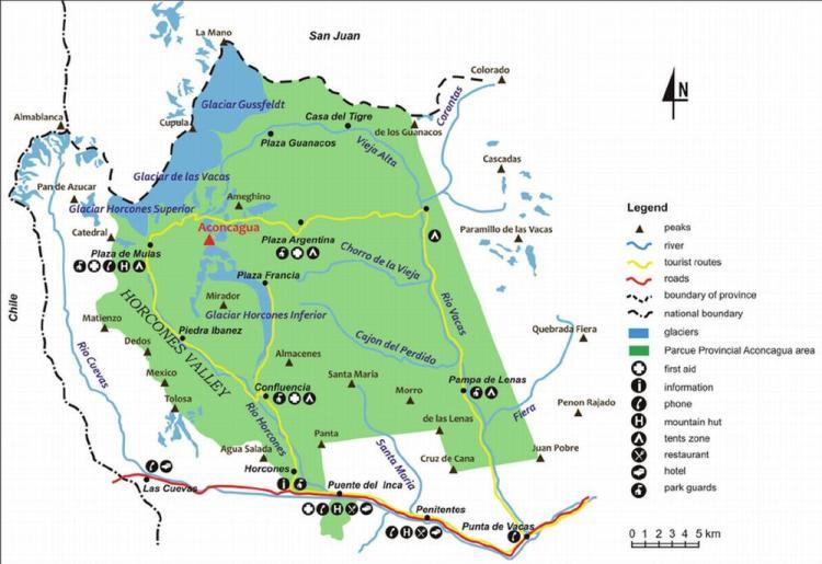 аконкагуа карта парка 2
